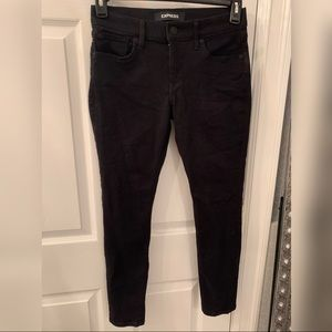 Express jeans crop black skinny